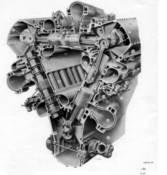 Ptfengcutaway on 2 Stroke Opposed Piston Diesel Engine